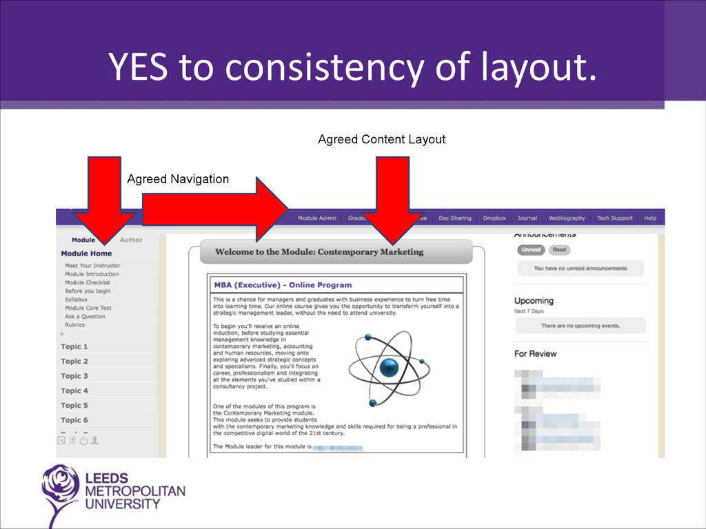 YES to consistency of layout. Agree...