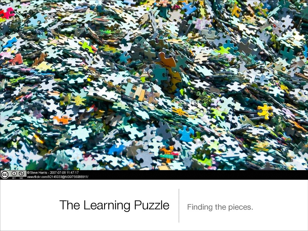 The Learning Puzzle Finding the pieces.