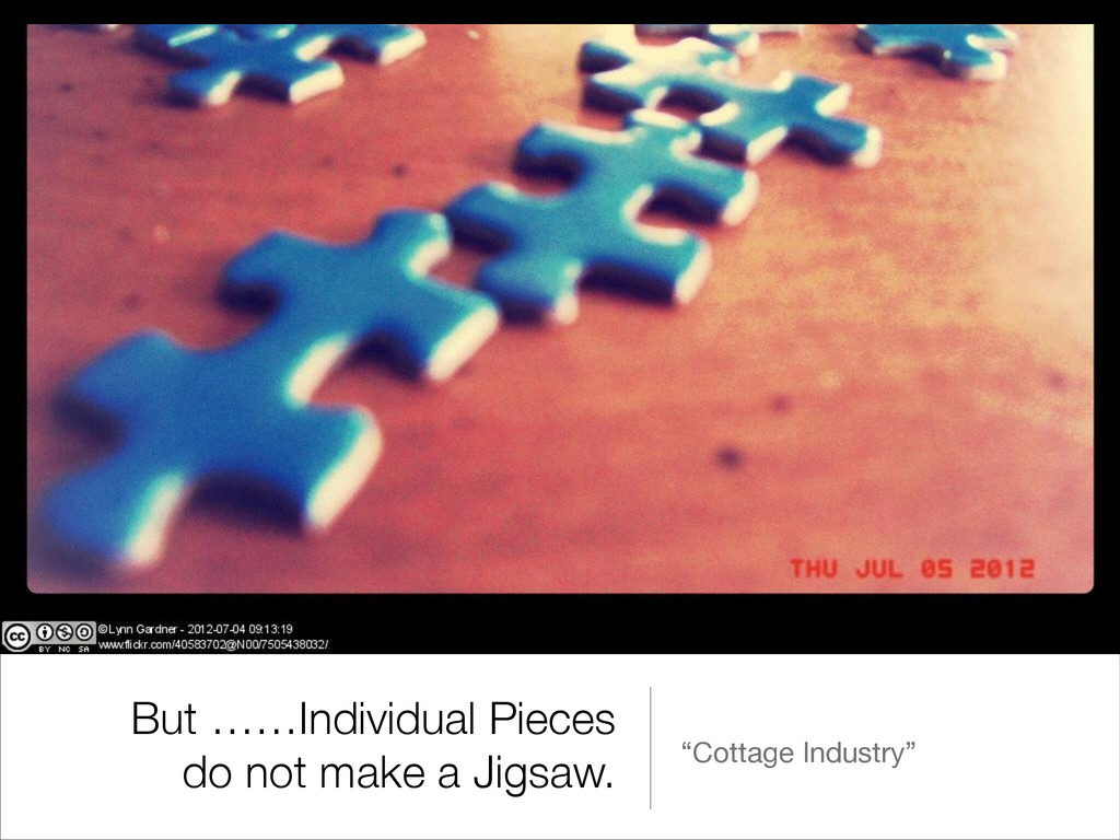 """But ……Individual Pieces do not make a Jigsaw. """"..."""