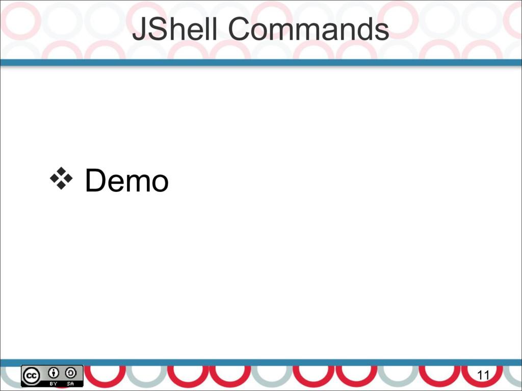 JShell Commands 11  Demo