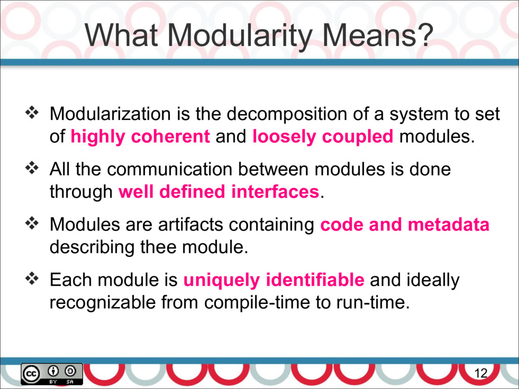 What Modularity Means? 12  Modularization is t...