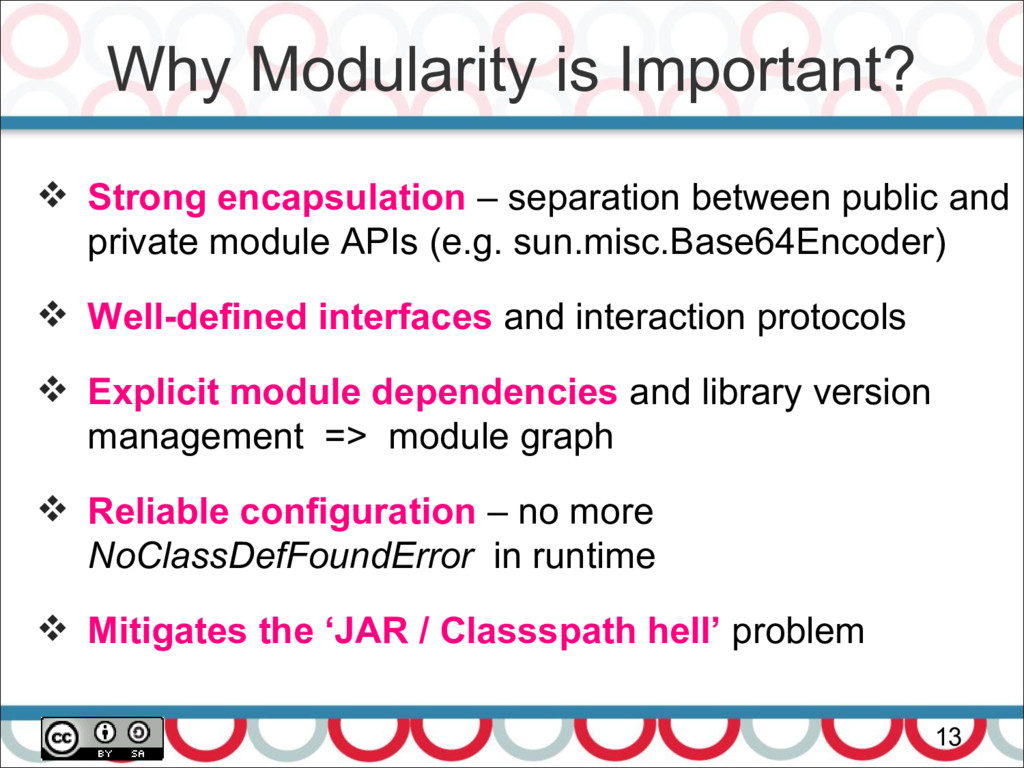 Why Modularity is Important? 13  Strong encaps...