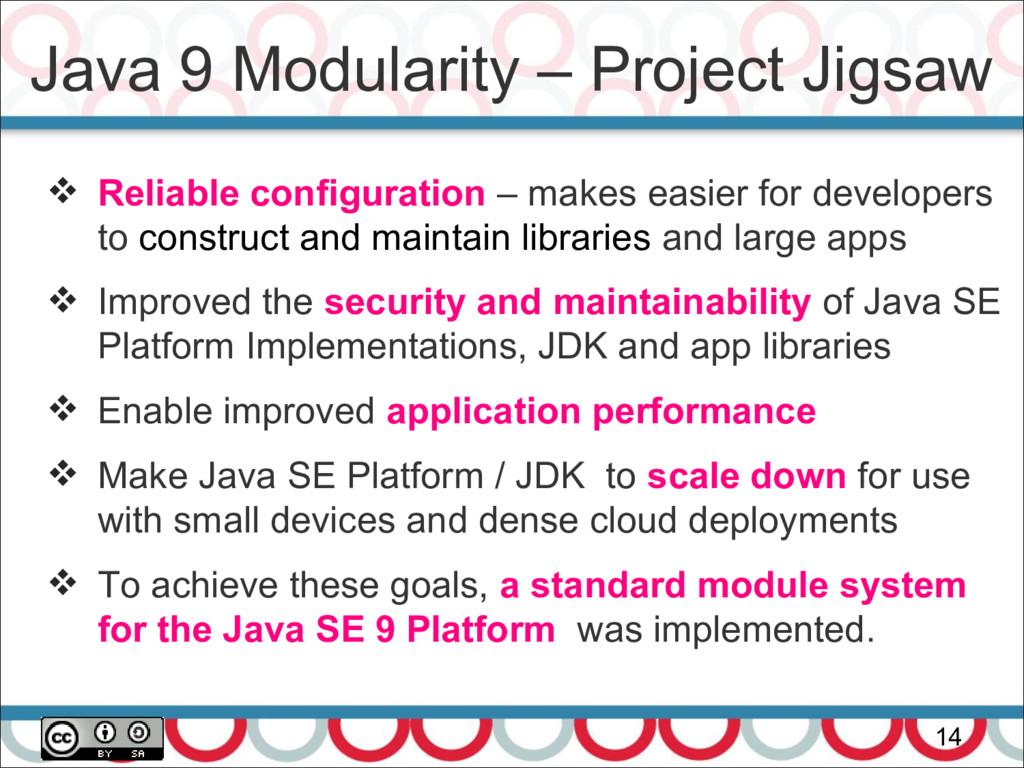 Java 9 Modularity – Project Jigsaw 14  Reliabl...