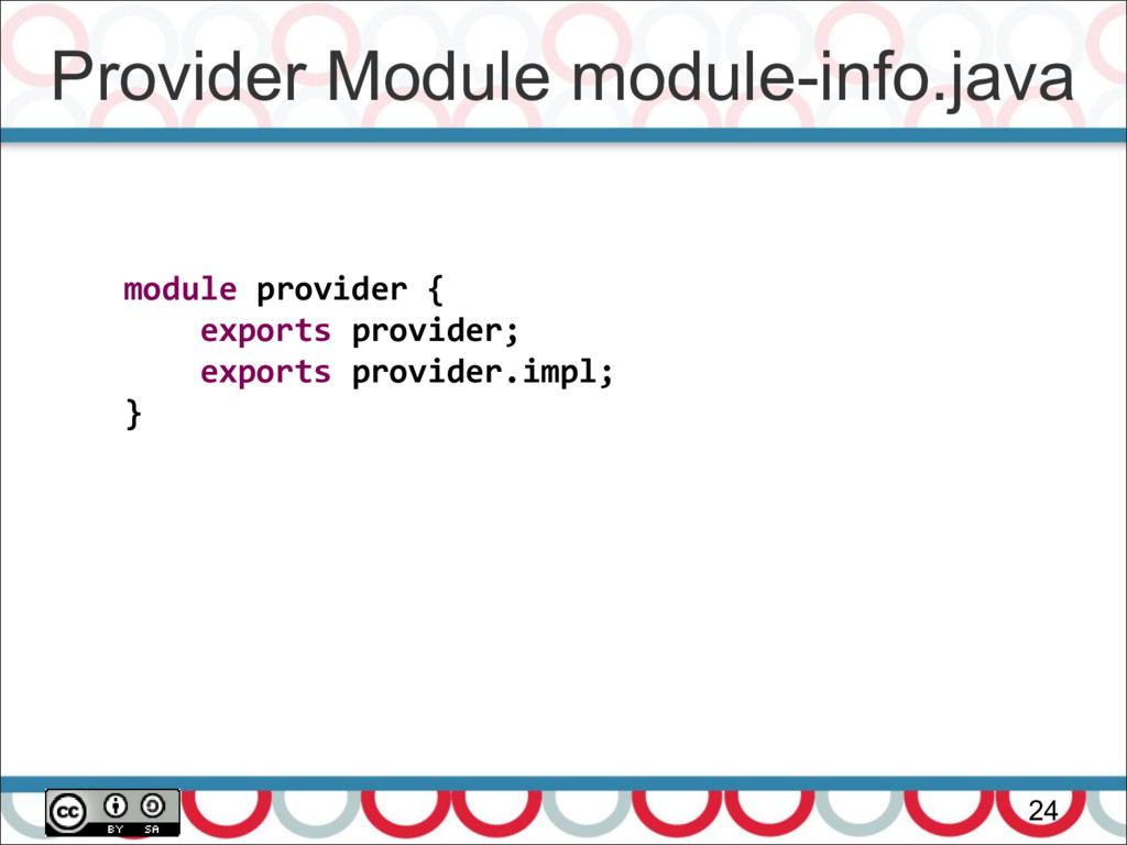 Provider Module module-info.java 24 module prov...