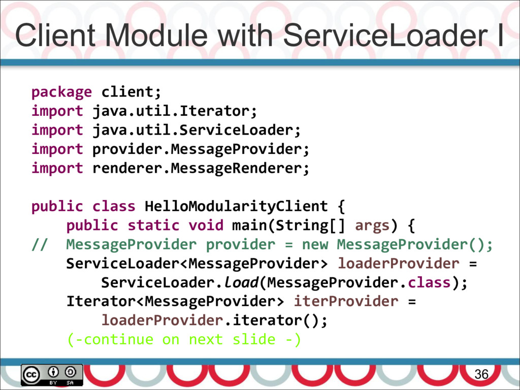 Client Module with ServiceLoader I 36 package c...
