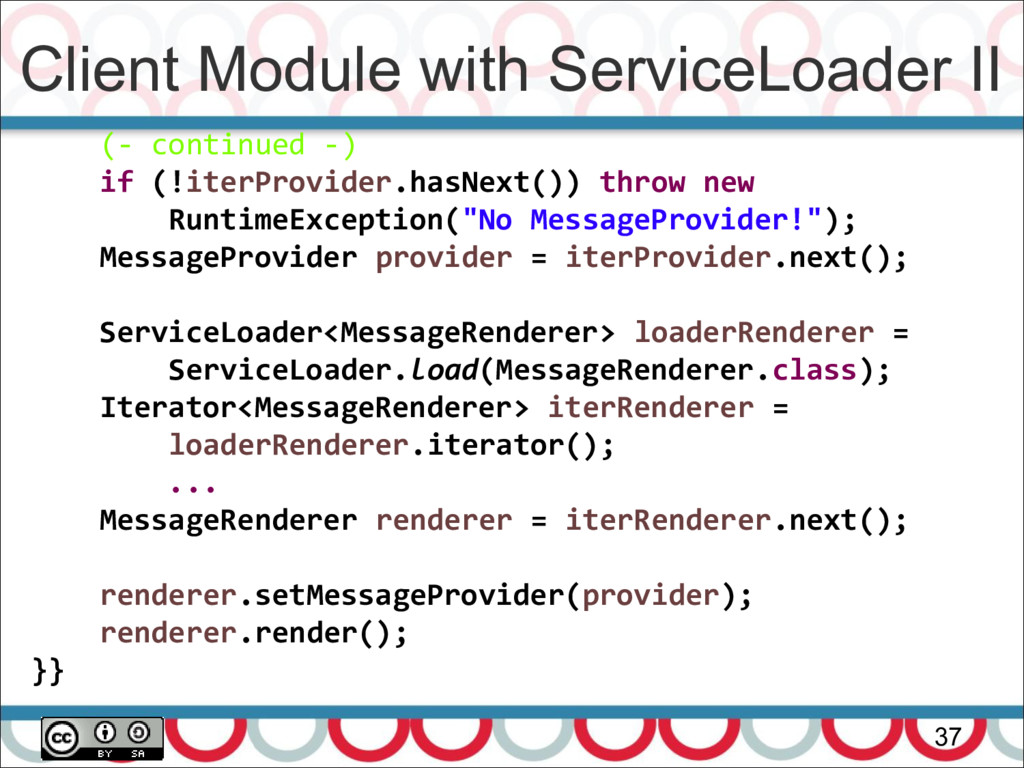 Client Module with ServiceLoader II 37 (- conti...