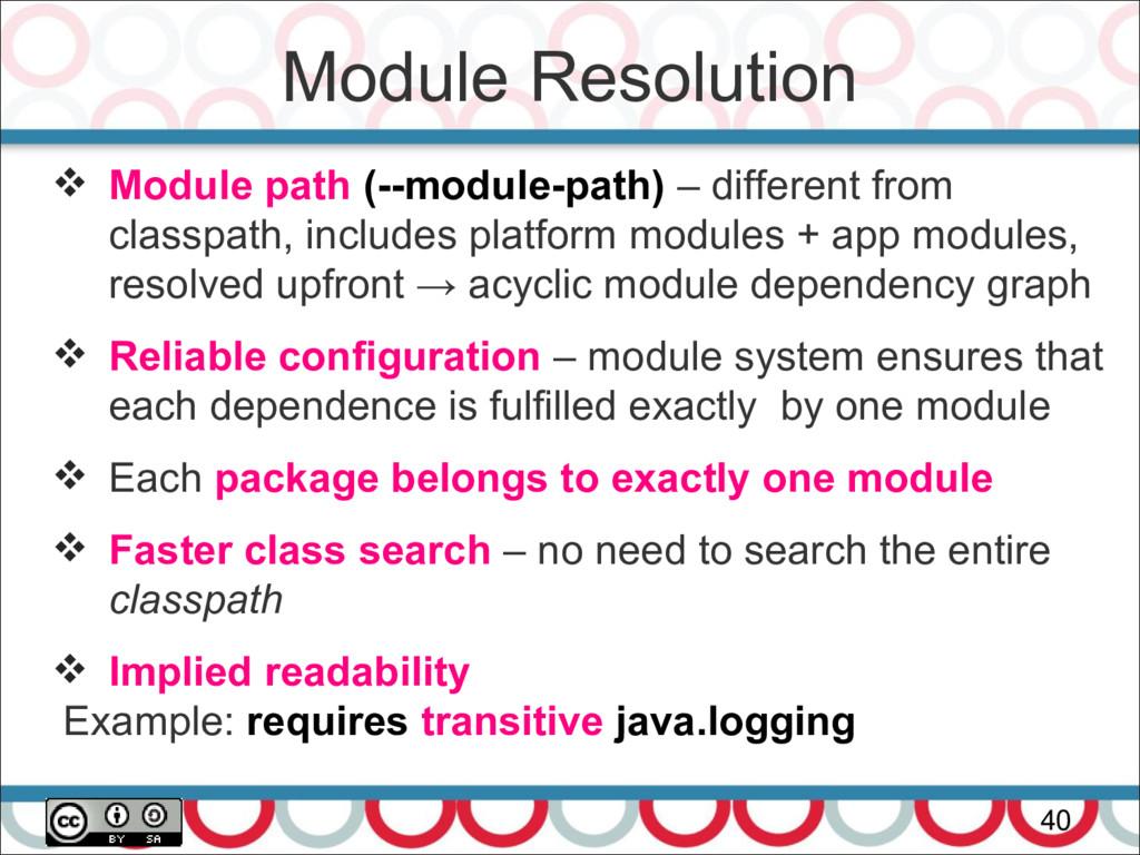 Module Resolution 40  Module path (--module-pa...