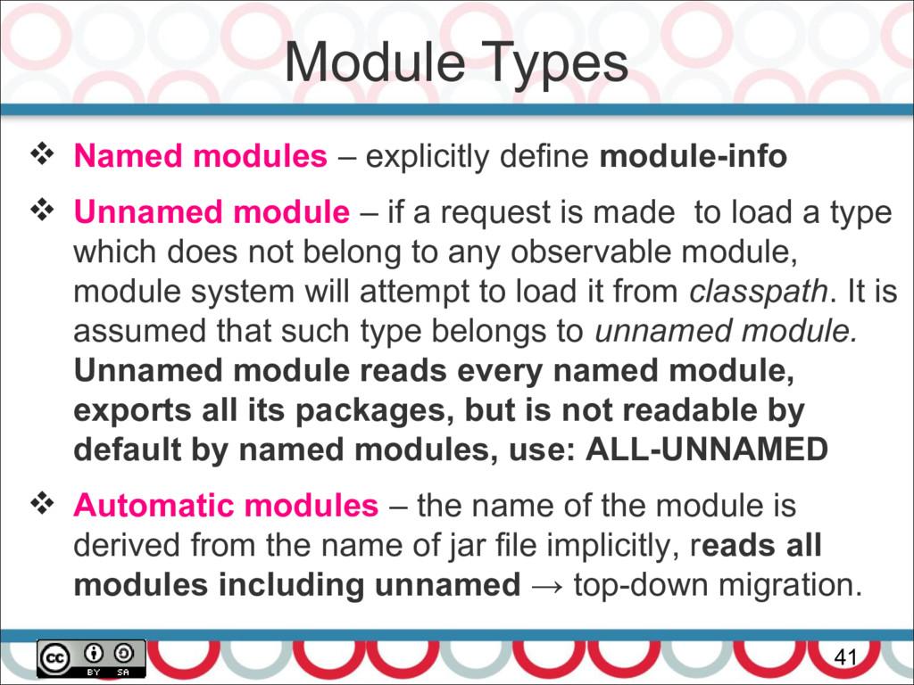Module Types 41  Named modules – explicitly de...