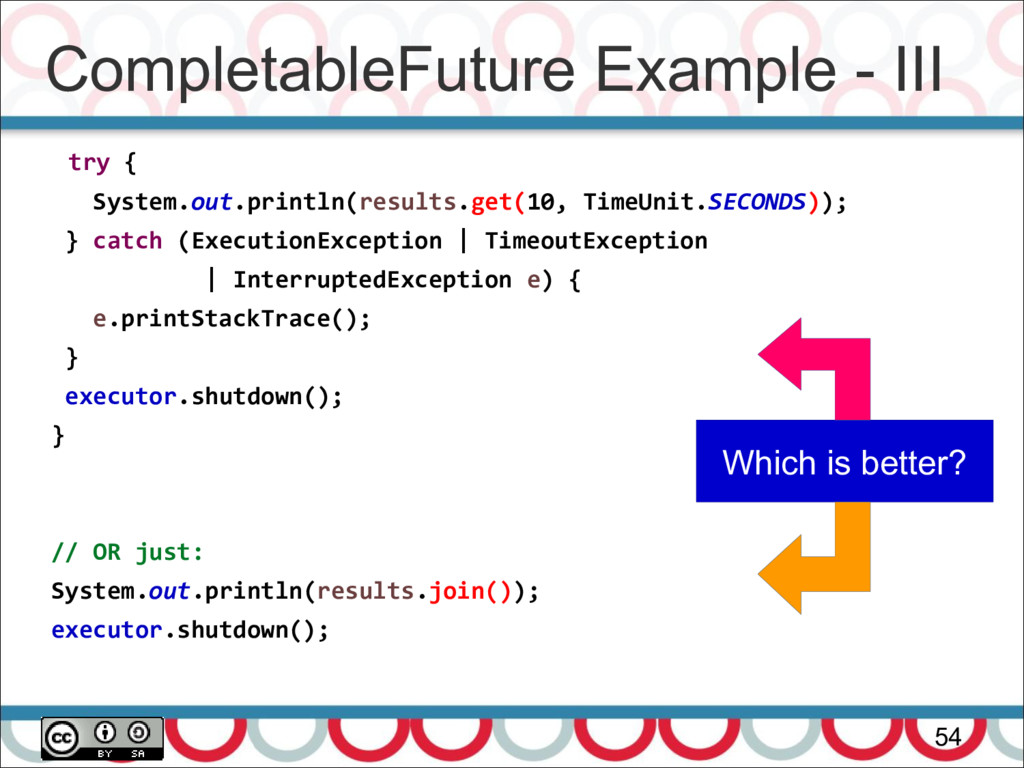 CompletableFuture Example - III 54 try { System...