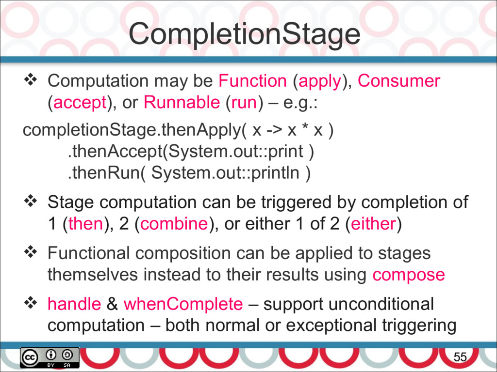 CompletionStage 55  Computation may be Functio...