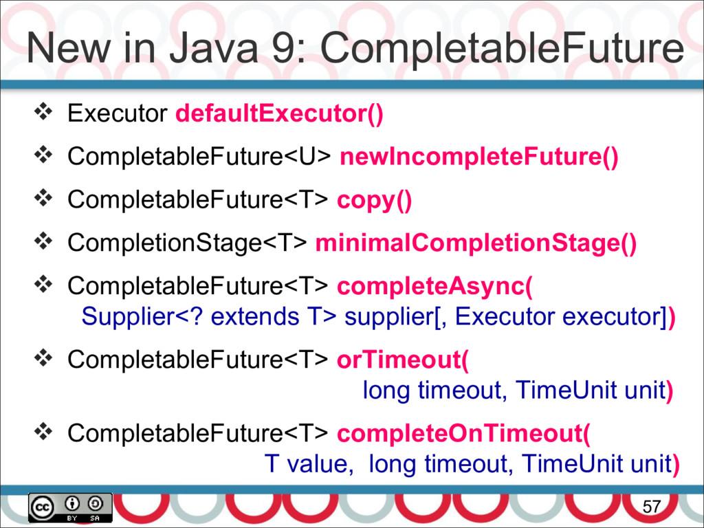 New in Java 9: CompletableFuture 57  Executor ...