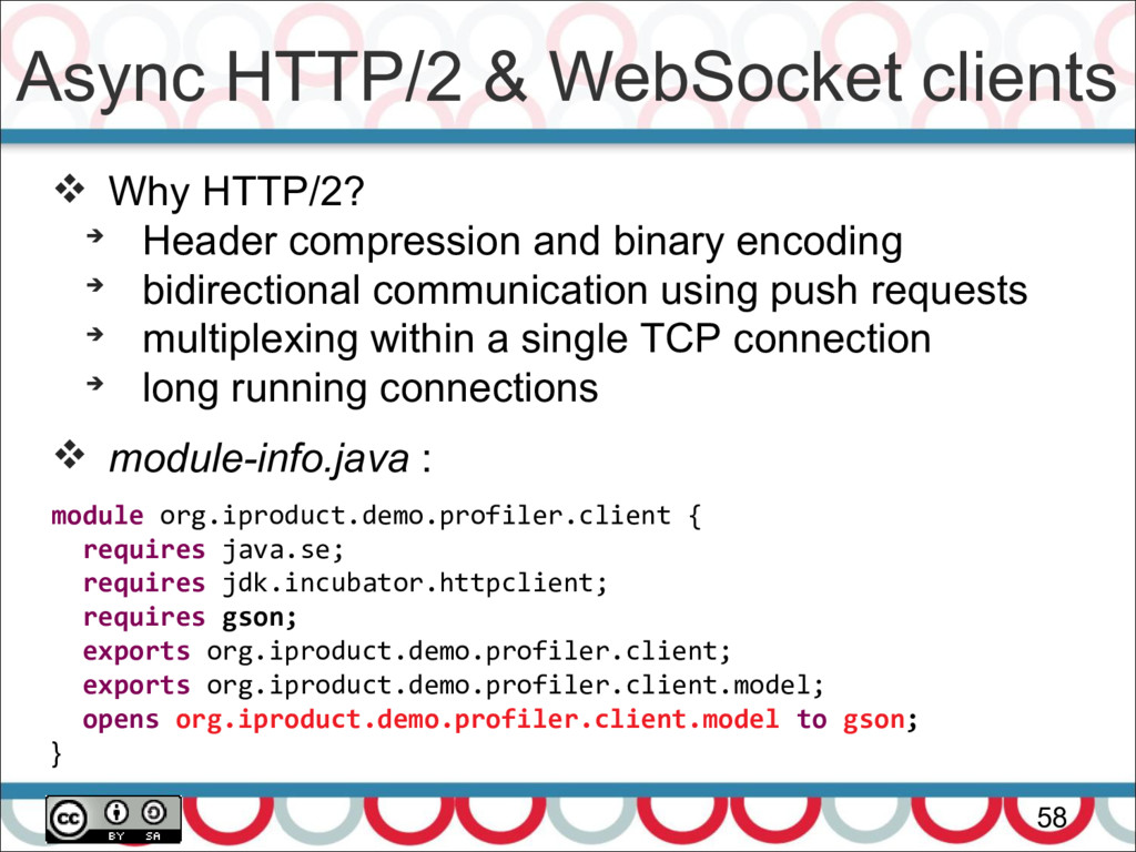 Async HTTP/2 & WebSocket clients 58  Why HTTP/...