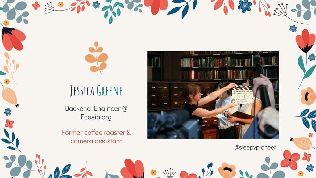 Backend Engineer @ Ecosia.org Former coffee roa...