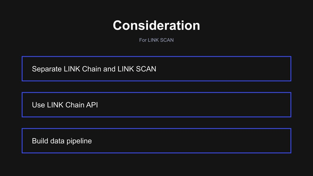 For LINK SCAN Consideration Separate LINK Chain...