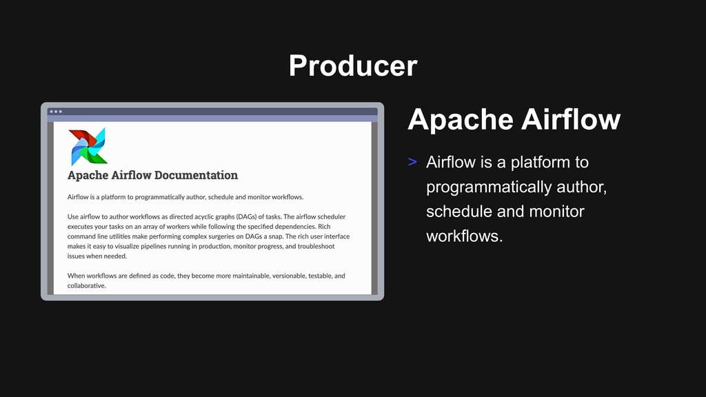 Ƃ Apache Airflow > Airflow is a platform to pro...