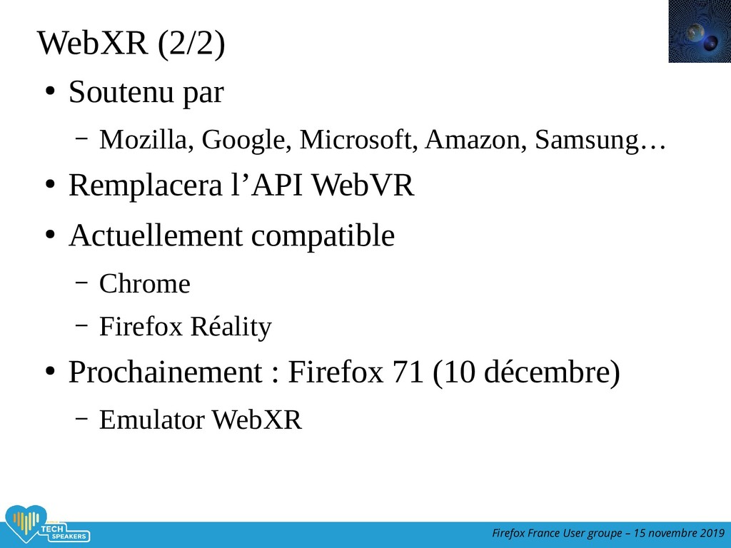 Firefox France User groupe – 15 novembre 2019 W...