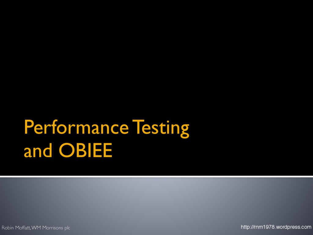 Performance Testing 