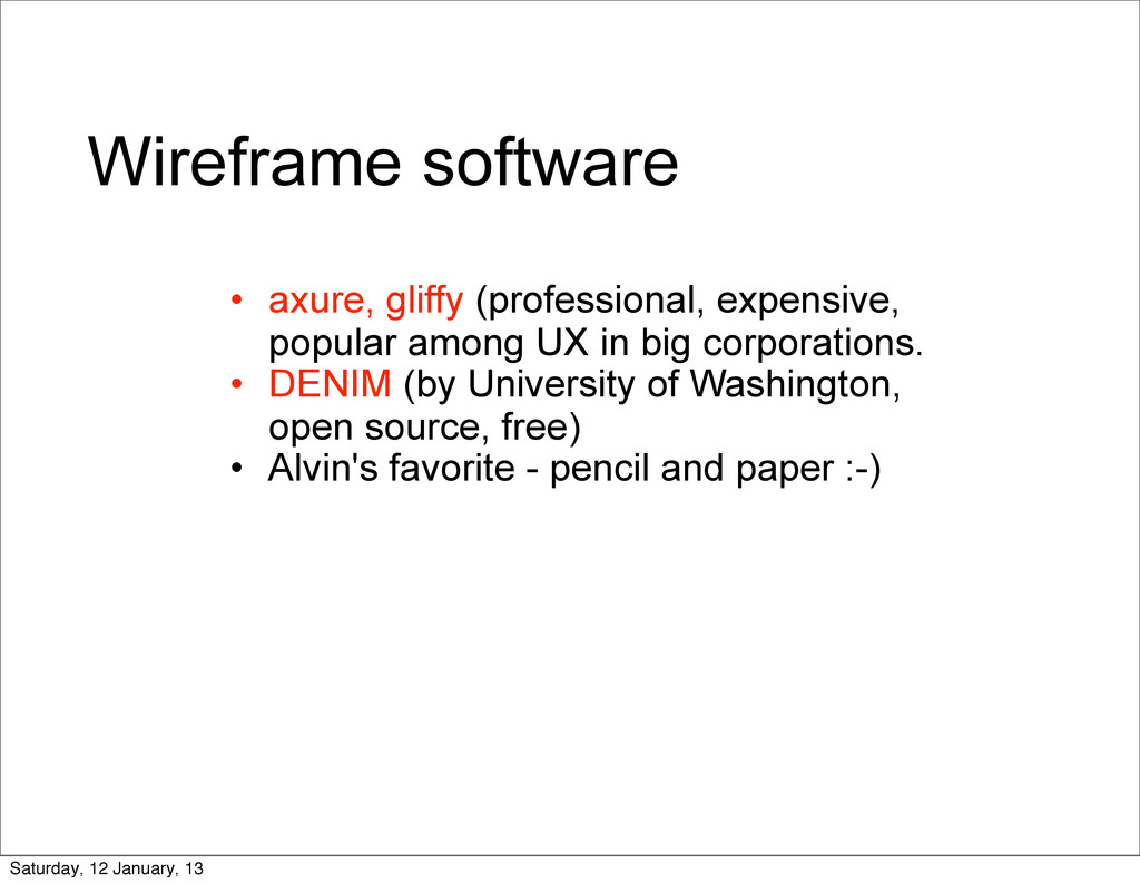 Wireframe software • axure, gliffy (professiona...