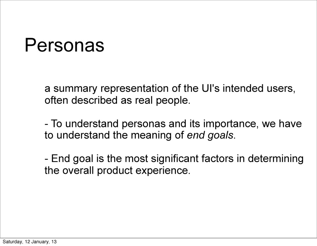 Personas a summary representation of the UI's i...