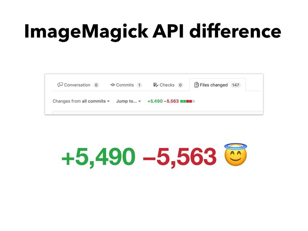 ImageMagick API difference +5,490 −5,563