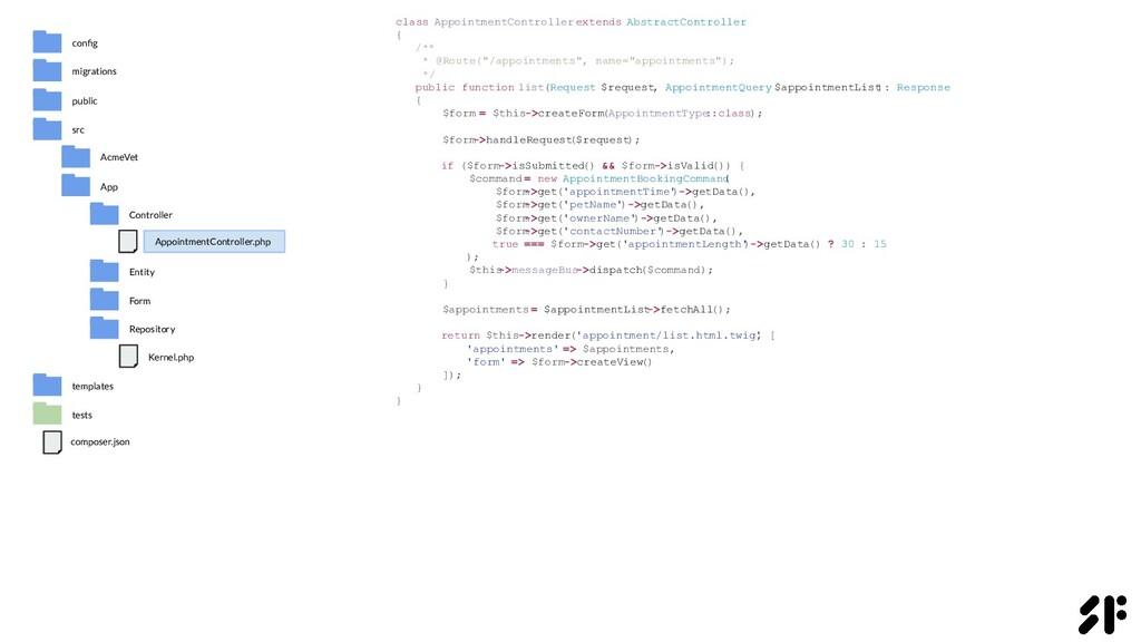 class AppointmentController extends AbstractCon...