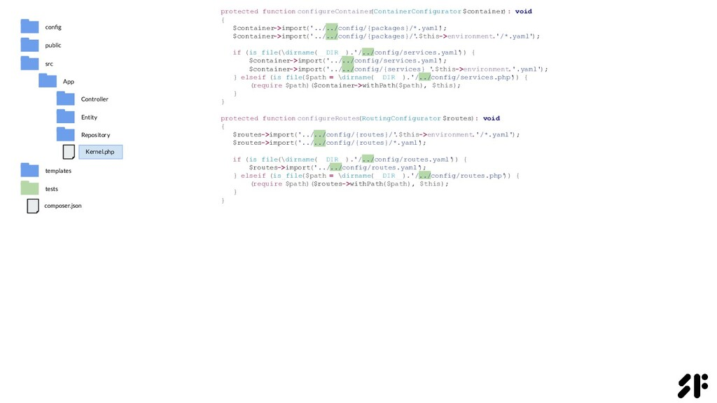 protected function configureContainer (Containe...