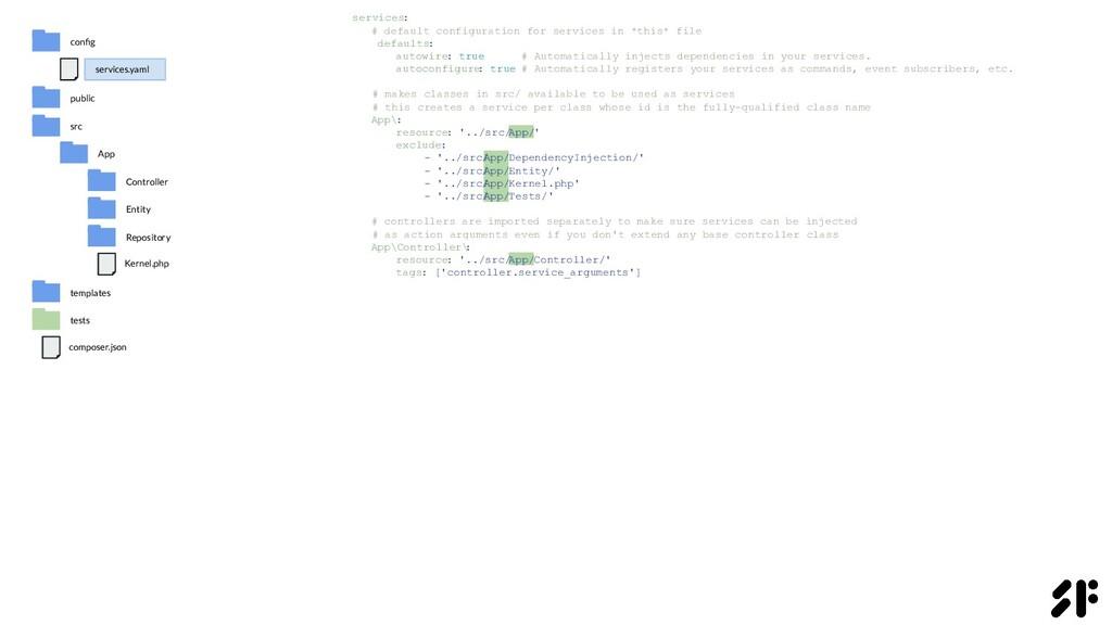 services: # default configuration for services ...