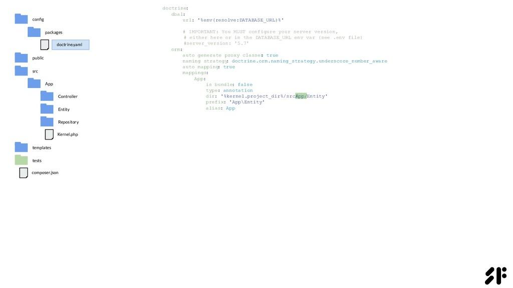 doctrine: dbal: url: '%env(resolve:DATABASE_URL...
