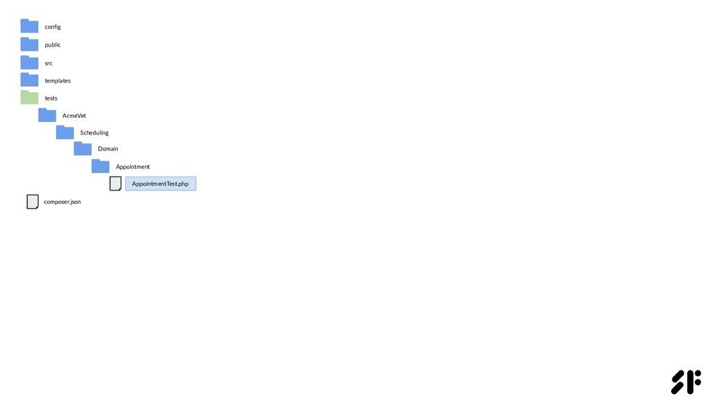 public src AcmeVet config Scheduling Domain comp...
