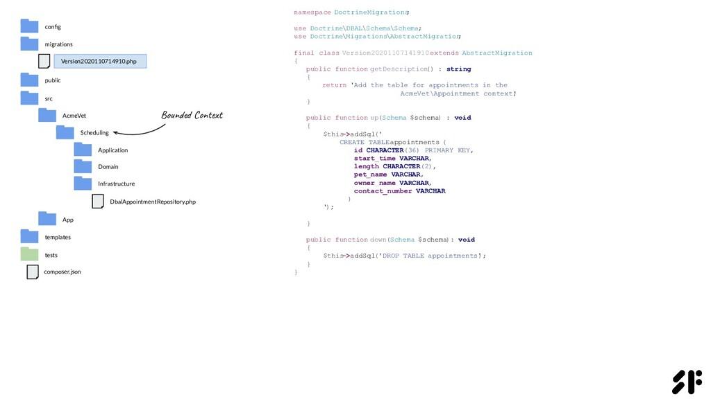 namespace DoctrineMigrations ; use Doctrine\DBA...