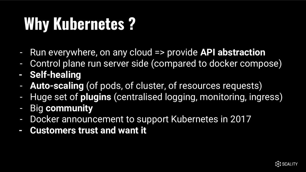 Why Kubernetes ? - Run everywhere, on any cloud...