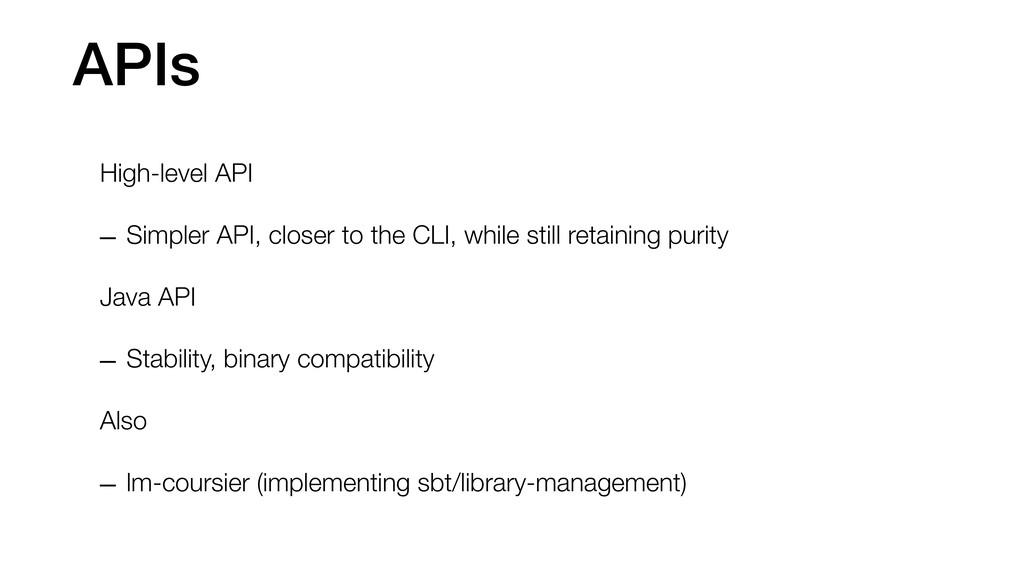 APIs High-level API – Simpler API, closer to th...