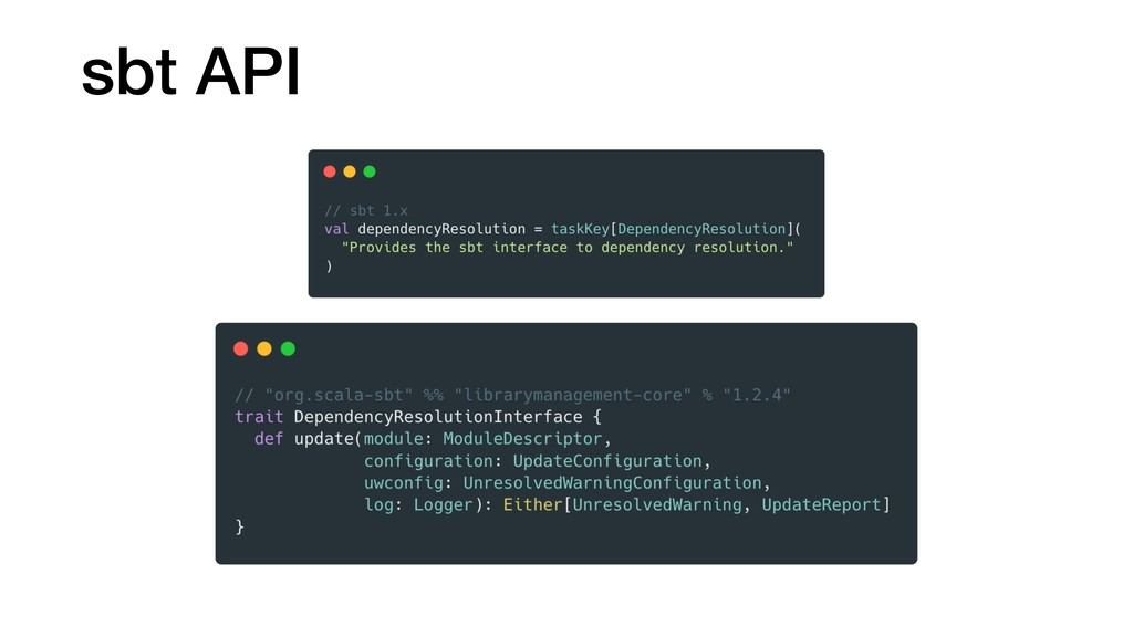 sbt API
