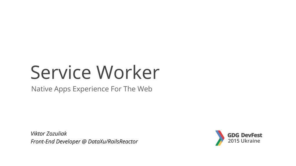 Native Apps Experience For The Web Service Work...