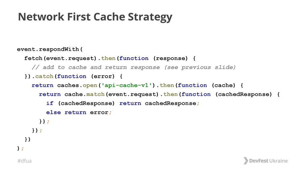 #dfua Network First Cache Strategy event.respon...