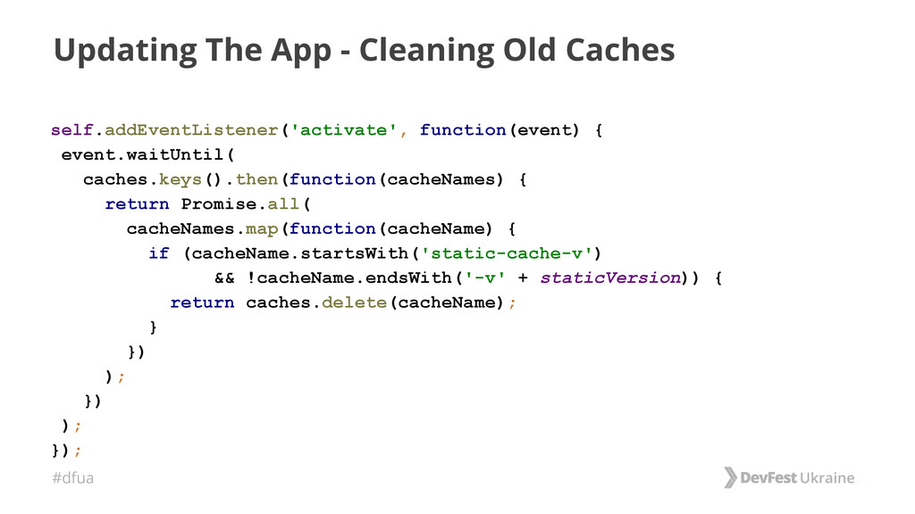 #dfua Updating The App - Cleaning Old Caches se...