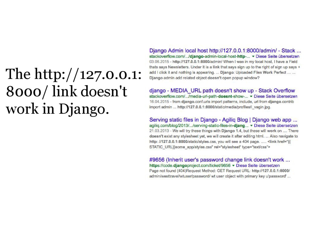 The http://127.0.0.1: 8000/ link doesn't work i...