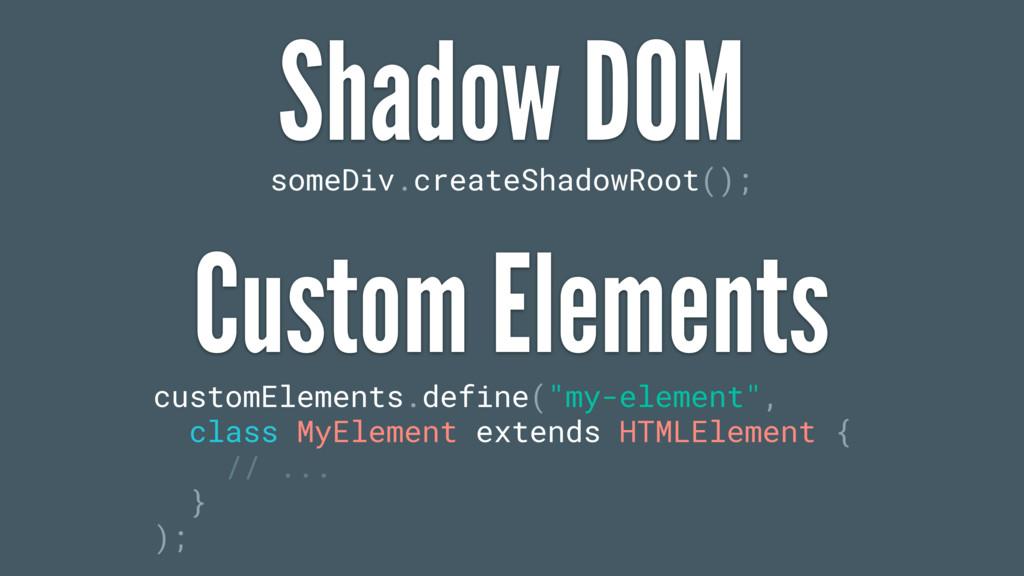 someDiv.createShadowRoot(); customElements.defi...