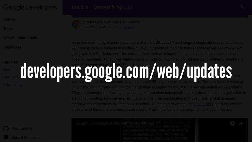 developers.google.com/web/updates