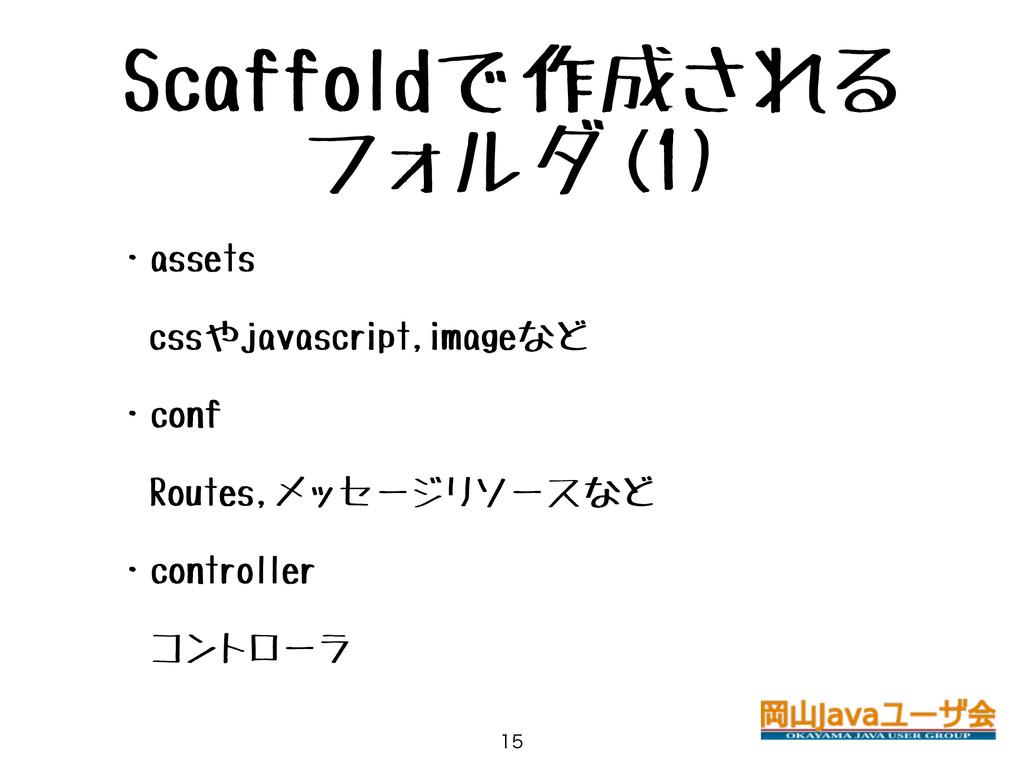 Scaffoldで作成される フォルダ(1) • ・assets • cssやjavascri...