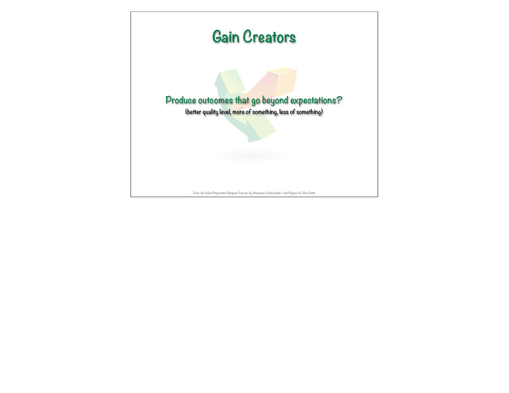 Gain Creators Produce outcomes that go beyond e...