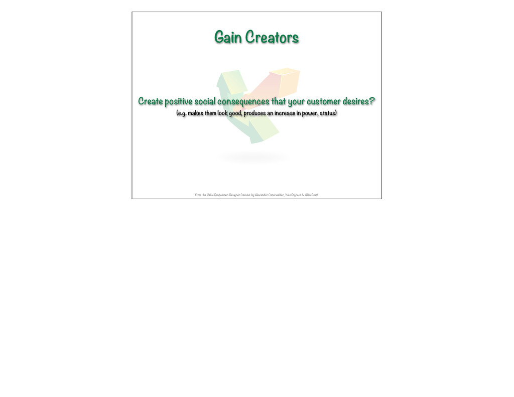 Gain Creators Create positive social consequenc...