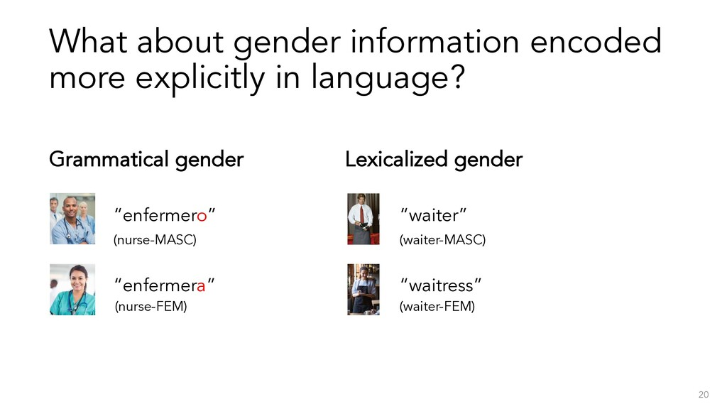 What about gender information encoded more expl...