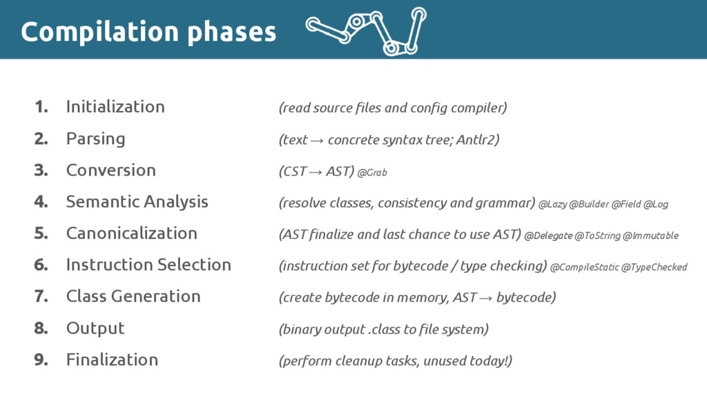 Compilation phases 1. Initialization (read sour...