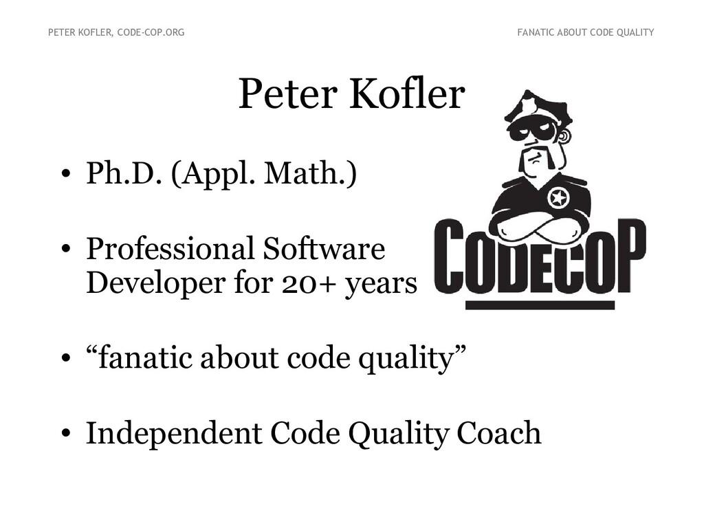 Peter Kofler • Ph.D. (Appl. Math.) • Profession...