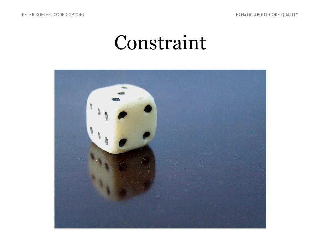 Constraint PETER KOFLER, CODE-COP.ORG FANATIC A...