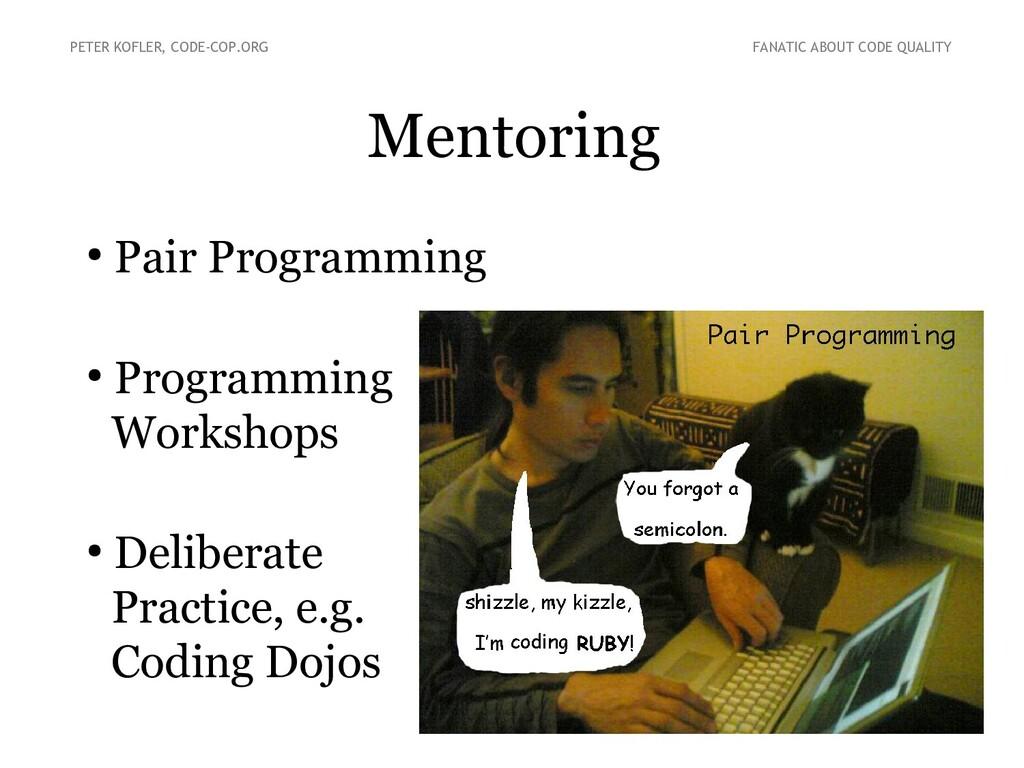 Mentoring PETER KOFLER, CODE-COP.ORG FANATIC AB...