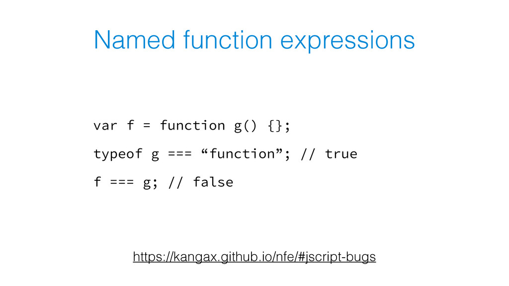 Named function expressions var f = function g()...