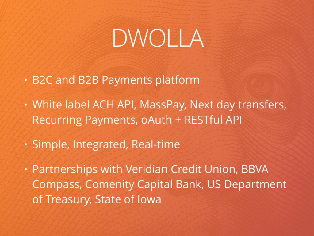 DWOLLA • B2C and B2B Payments platform • White ...