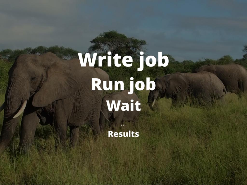 Write job Run job Wait … Results